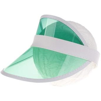 DC 子ども用帽子 UVカット帽子 UVカットハット 日焼け止めキャップ バイザー ヘッドギア 紫外線を防ぐ(緑色)