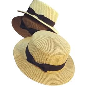 麦わら帽子 レディース UVカット リボン付き 小顔効果 紫外線防止 レディース 蝶結び ストロー ハット 折りたたみ 日よけ 日常用 通気性良い 3セット