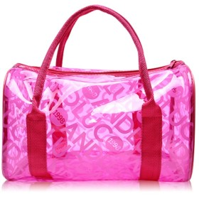 Mai 水泳バッグPVC大容量女性の防水ビーチバッグ透明なストレージバッグウォッシュバッグのハンドバッグ3色のサイズ29.5x16.5x18cm (色 : Pink)