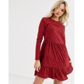 ニュールック New Look レディース ワンピース ワンピース・ドレス smock dress in red floral レッドパターン