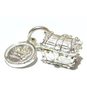 『 宝箱 シルバーチャーム 』 ニックハバード Nick Hubbard ペンダントトップ コイン 個性的 海賊 おもしろ ユニーク 王冠 かわいい プレゼント 雑貨 ブローチ ネックレス 誕生日 キーホルダー