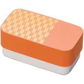 にっぽん伝統色 和文様 長角弁当 柿色 矢絣 73607-1