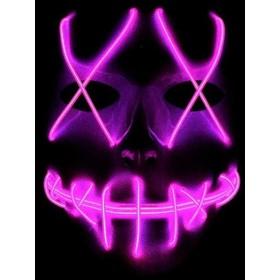 ThreeCat 光る 仮面 LEDマスク ホラー マスク ハロウィンコスプレ小物 悪魔マスク お面 面白い 仮装、ハロウィン、クリスマス、仮装、パーティー、2次会、イベント、新年会など場合対応