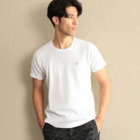 【エポカ ウォモ(EPOCA UOMO)】 【SPORTY LINE】*Safari10月号掲載*ワンポイントクルーネックTシャツ ホワイト