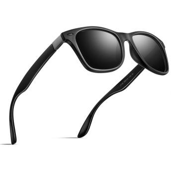 偏光 サングラス メンズサングラス UV400 紫外線カット レディースサングラス スポーツサングラス 軽量 自転車 釣り テニス スキー ランニング ゴルフ ドライブ 2150 (ブラック/ブラック1)