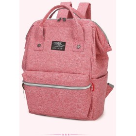 skybow リュック レディース 大人 デニムバッグ マザーズリュック 人気の大きく開く口金入りスクエアデイパック ハンドバッグ/手提げバッグ 3 way bag A4 人気 軽量 丈夫 6色 (pink)