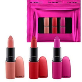 M.A.C ・マック, Limited Edition 限定版, 3-Pc. Shiny Pretty Things Lip Set - Russian Red/Kinda Sexy/Flat Out Fabulous [海外直送品] [並行輸入品]