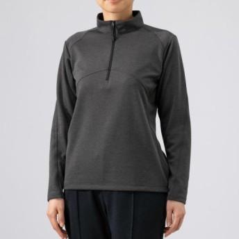 MIZUNO SHOP [ミズノ公式オンラインショップ] ブレスサーモライトインナージップシャツ[レディース] 08 チャコール杢 B2MA9766