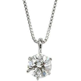 宝石の森 ダイヤモンド ネックレス 一粒 プラチナ Pt900 0.5ct ダイヤネックレス 6本爪 ダイヤ 無色透明 Dカラー SI2クラス Excellent エクセレント 0.5カラット ペンダント 鑑定書付き