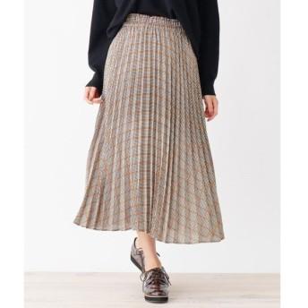 SHOO・LA・RUE / シューラルー チェックプリ−ツロングスカート