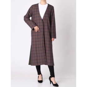 [OUTLET LIMITED ITEM]【MURUA】チェック切替チェスターコート