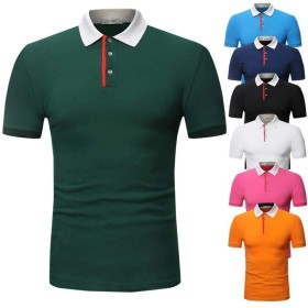 BOBIDYEE 青少年用メンズ半袖ソリッドカラーカジュアル半袖TシャツゴルフテニスTシャツ (色 : オレンジ, サイズ : M)