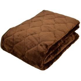 あったか 毛布敷きパッド シングル 吸湿発熱 蓄熱わた入り 「TOPHEAT」 Easywarm ブラウン フランネル 敷き毛布 冬用 100×205cm