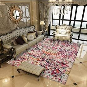 エリアラグ、現代の美しいカラフルなメダリオンコレクションパターン大リビングルームカーペット、E、200 x 300 cm