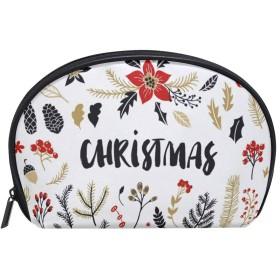化粧ポーチ 化粧ポッチ クリスマス クリスマスイブ サンタクロース クリスマスツリー バニティーポーチ 化粧袋 収納バッグ トイレタリーバ 旅行出張用 洗面用具 小物入れ