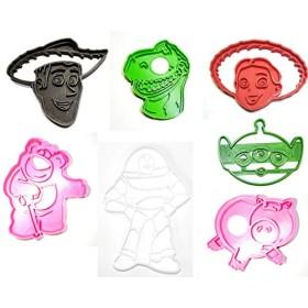 トイストーリーのセット7Buzz Woody JesseレックスHamm Lotso LGM特別な機会クッキーカッターフォンダンベーキングツール3dプリントUSA pr1003