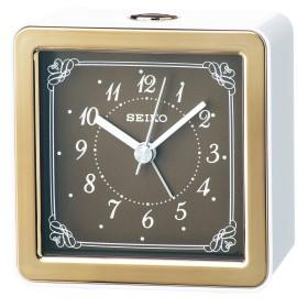セイコー クロック 目覚まし時計 アナログ LEDバックライト 銅色 KR898B SEIKO
