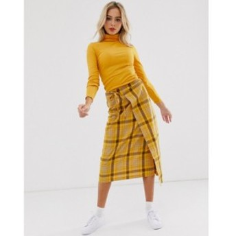 デイジーストリート Daisy Street レディース ひざ丈スカート ラップスカート スカート midi wrap skirt in check