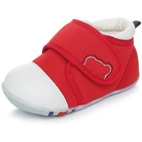 Genda 2Archer(JP) ベビーシューズ ファーストシューズ 男の子 女の子 ベビー 赤ちゃん キッズ 子供 シューズ 乳児靴 おしゃれ 柔らかい靴底 滑り止め 歩行練習 お祝い プレゼント 赤 青 (内寸13.5cm, レッド)