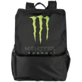 Monster Energy モンスターエナジー ロゴ 飲み料 リュック デイパック バックパック トラベルバッグ 耐久性 多機能 通学 通勤 登山 旅行 アウトドア シンプル オシャレ ユニセックス