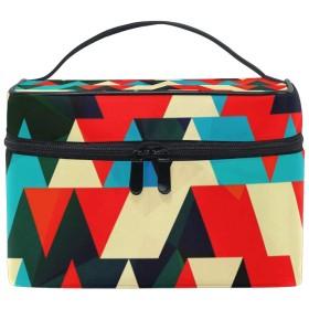ユキオ(UKIO) メイクポーチ 大容量 シンプル かわいい 持ち運び 旅行 化粧ポーチ コスメバッグ 化粧品 抽象 レディース 収納ケース ポーチ 収納ボックス 化粧箱 メイクバッグ