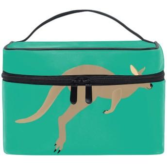 収納ポーチ 通勤 出張 旅行 大容量 カンガルー動物軽量 携帯 便利