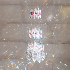 マナスペース愛 きらら☆ 純正スワロフスキー社製!ルーム用サンキャッチャー ギフトに最適☆ 光と虹 (全12色セット)