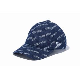 NEW ERA ニューエラ 9THIRTY クロスストラップ ロゴオールオーバー インディゴデニム アジャスタブル サイズ調整可能 ベースボールキャップ キャップ 帽子 メンズ レディース 56.8 - 60.6cm 12108968 NEWERA
