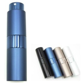 ShopXJ 香水 メンズ アトマイザー 大人 男性 プッシュ式 詰め替え 持ち運び 身だしなみ 携帯用 15ml (ネイビー)