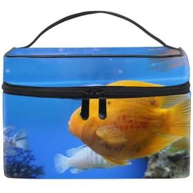 化粧ポーチ 化粧品 収納 コスメポーチ レディース ポーチ 大容量 軽量 防水魚がきれいに泳ぐ