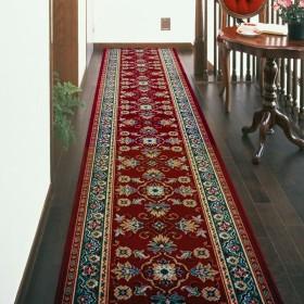 廊下敷き カーペット ベルギー製廊下用絨毯 (レッド) 幅66cm×長さ180cm