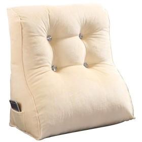 Lts ベッドサイドトライアングルクッション大きな枕ソフトパックウエストバッククッションオフィスソファ枕ネックガードベルトウエストウィンドウ背もたれ55  30  45 cm (Color : Beige, サイズ : 553045cm)