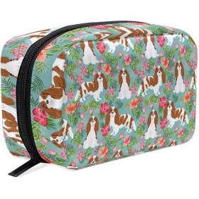 犬 ハワイ州 化粧ポーチ メイクポーチ 機能的 大容量 化粧品収納 小物入れ 普段使い 出張 旅行 メイク ブラシ バッグ 化粧バッグ
