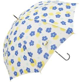 Nifty Colors 長傘 花とレモン オフホワイト 8本骨 58cm