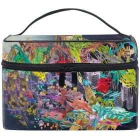 アートフラクタルデジタルカラーメイクボックス コスメ収納 トラベルバッグ 化粧 バッグ 高品質