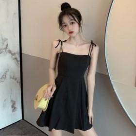 キャミソールワンピース ショート丈 韓国ファッション オルチャンファッション