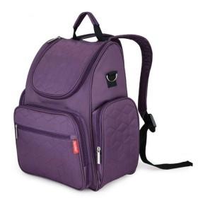 Lan Insular Elegant Baby Diaper Backpack Large Capacity Waterproof Mommy Nappy Bag Multifunctional Changing Pad Fit Stroller S16 (Purple) by Lanpet