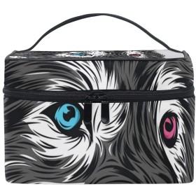 メイクボックス 黒と白柄 化粧ポーチ 化粧品 化粧道具 小物入れ メイクブラシバッグ 大容量 旅行用 収納ケース
