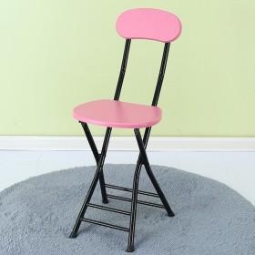 ダイニングチェア チェア Chair ッション 背もたれスツールモダンシンプル家庭用大人トレーニングポータブル屋外スペースなし TINGTING (色 : B-powder)