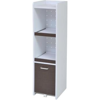 JKプラン 食器棚 ホワイトダークブラン 32.5×45.5×124cm FKC-0531-WHDB