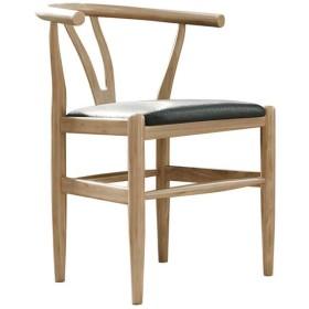 Ailj 椅子、 モダンなミニマリストデスクチェア クリエイティブ コンピュータスツール 背もたれ ホームチェア ダイニングチェア 46×42×72cm(4色) (Color : Wood color, Size : Cloth)