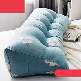 ベッドサイドクッション、ロングピローソフトピロートライアングルダブルバックレストウエストバック畳ベッドクッション (色 : D, サイズ さいず : 60 cm 60 cm)