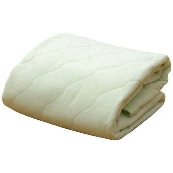 イケヒコ 敷きパッド セミダブル 寝具 洗える 無地 ヒバエッセンス使用 『ヒノール』 グリーン 約120×205cm