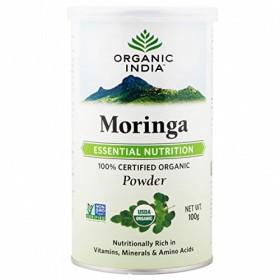 ORGANIC INDIA MORINGA POWDER 100GM free shipping USDA Organic