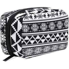 アフリカスタイルの柄 化粧ポーチ メイクポーチ 機能的 大容量 化粧品収納 小物入れ 普段使い 出張 旅行 メイク ブラシ バッグ 化粧バッグ