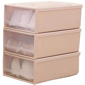 Fashion P.R 収納ボックス 引き出し 下着収納ケース 引き出し 3点セット 組み立て式 収納箱 引出し収納 下着収納 卓上小物入れ 耐重50KG 多層 小物デスクトップ収納 (ベージュ)