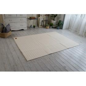 【洗濯できる】 格好良い デニム キルトラグ lightdenim-130185 (SUL) 約130×185cm (アイボリー) 丈夫 耐久性 洗える オフホワイト 白系 クリーム white シンプル メゾンドレーヴ