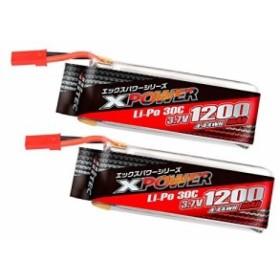 ハイテック X-POWER Galaxy Visitor3用 Li-Poバッテリー 3.7V 1200mAh 30C ツインパック P480318W