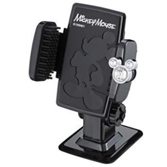 ナポレックス 車載ホルダー ディズニー スマートフォンホルダー3D ミッキー 抗菌 スワロフスキー使用 汎用 WD-311