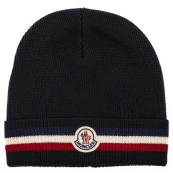 モンクレール ニット帽子 2019年-2020年秋冬新作 00328 00 02292 HAT ニットキャップ ビーニー ブラック